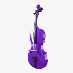 3D violet violin