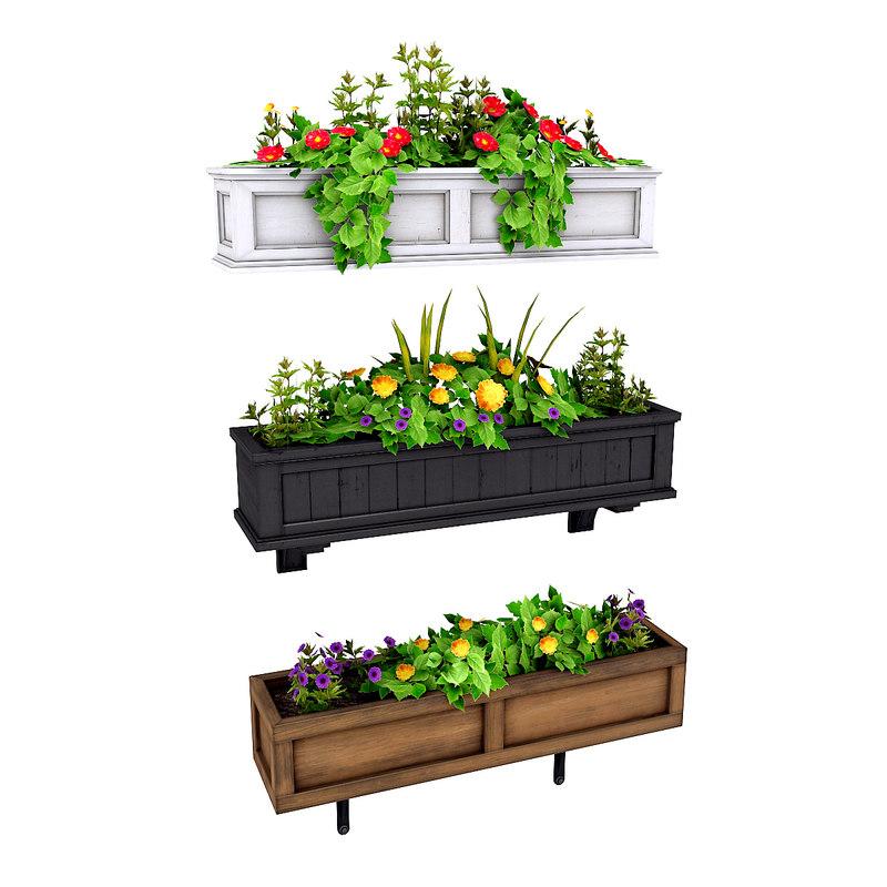 3D plants potted