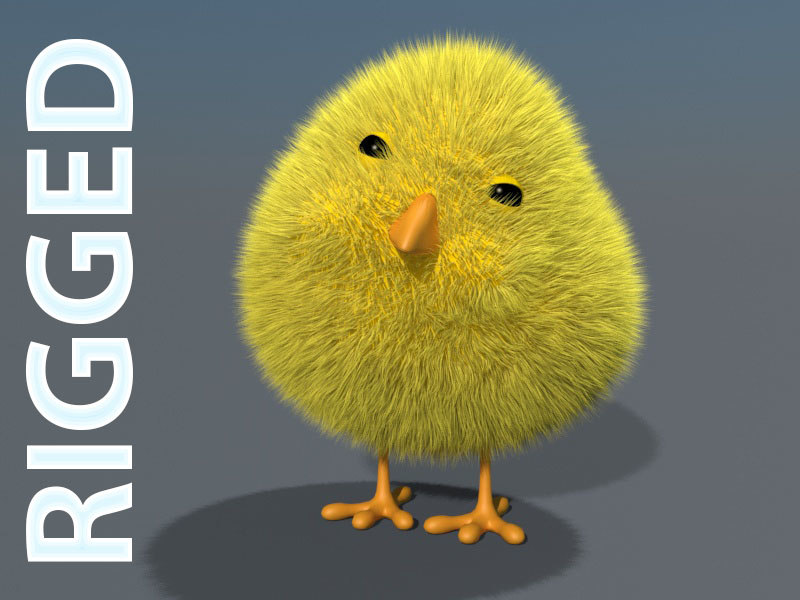 3D chick rigged