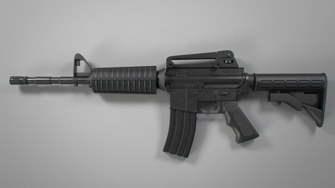 m4 assault rifle 3D