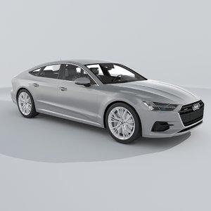 3D audi a7 sportback 2018 model