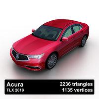 3D 2018 acura tlx