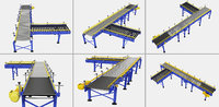3D conveyor set belt model