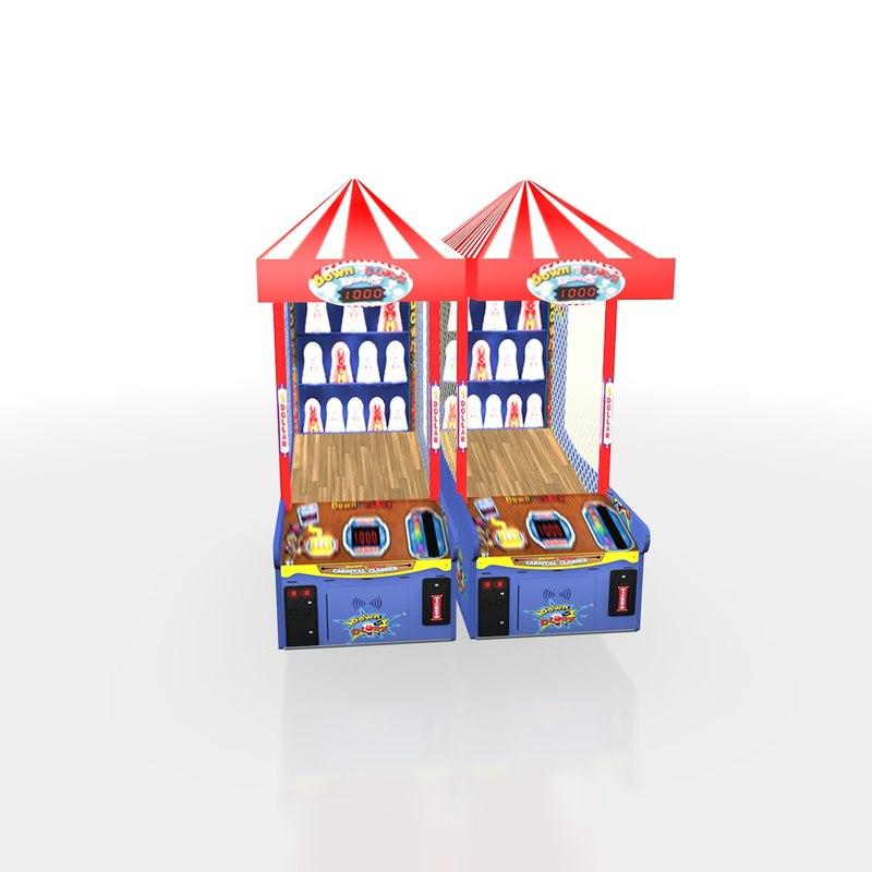 3D clown arcade model