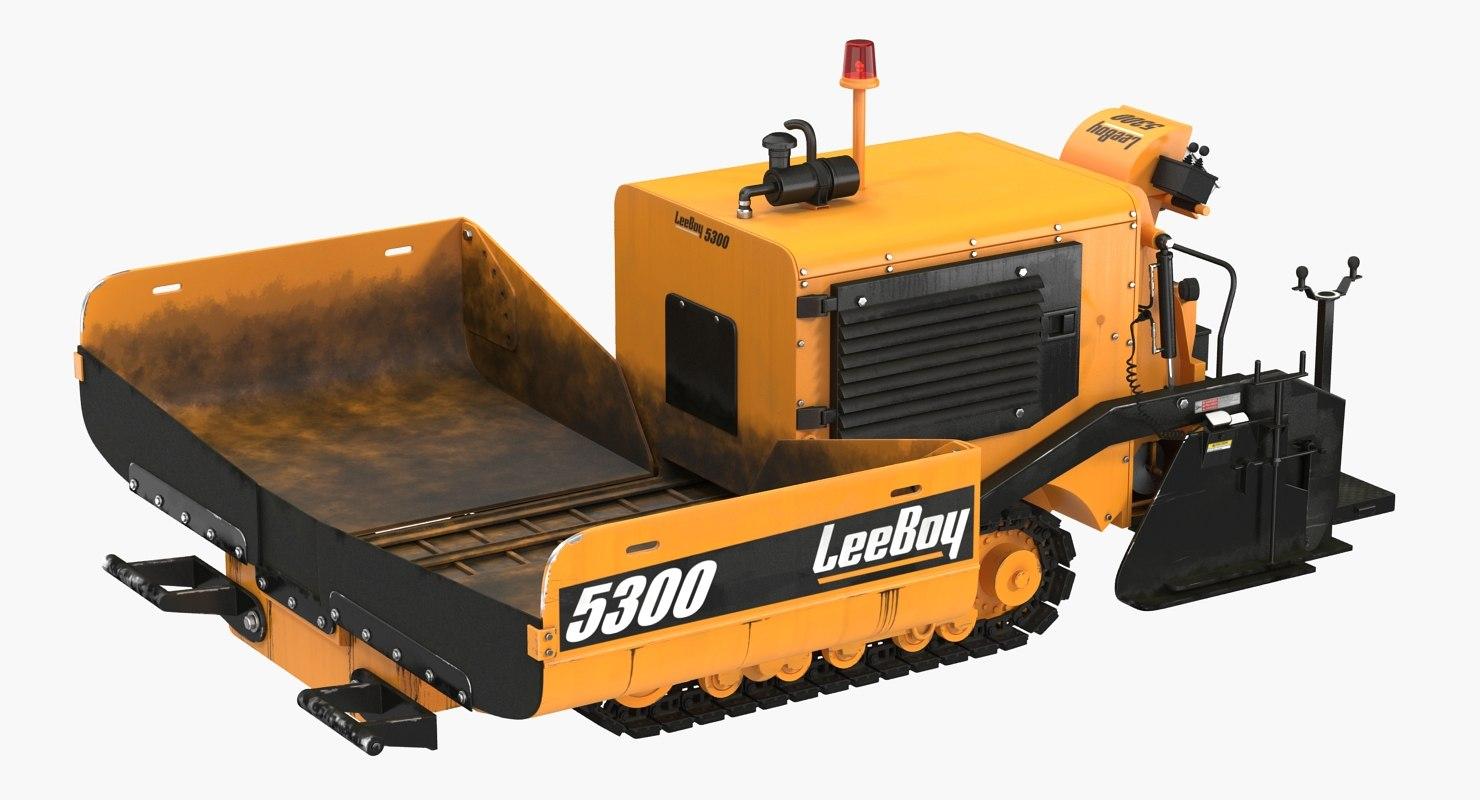 asphalt paver leeboy 5300 3D
