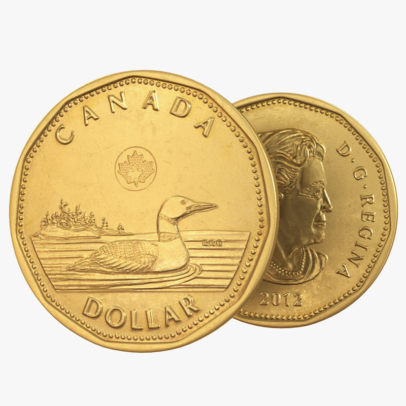 canadian dollar coin loonie 3D model