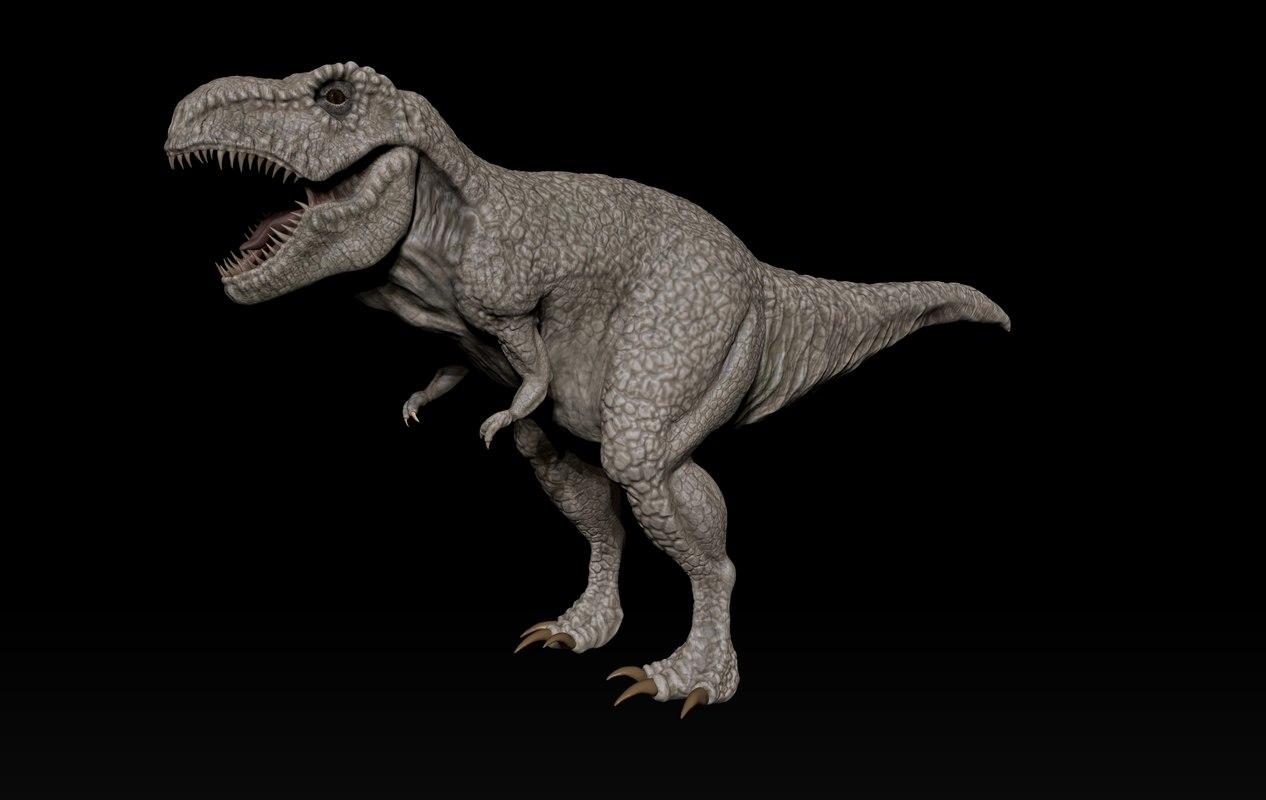 sculpture t-rex 3D model