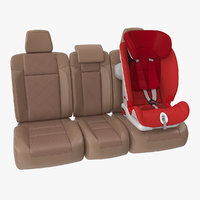 child safety seat car 3D model