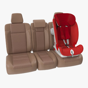 child safety seat car 3D model