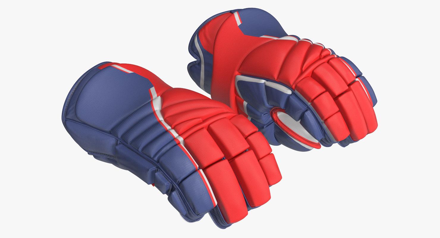 hockey gloves rigged model
