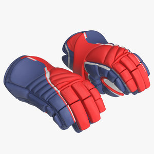 hockey gloves rigged model