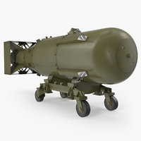 Nuclear Little Boy Bomb on Carriage