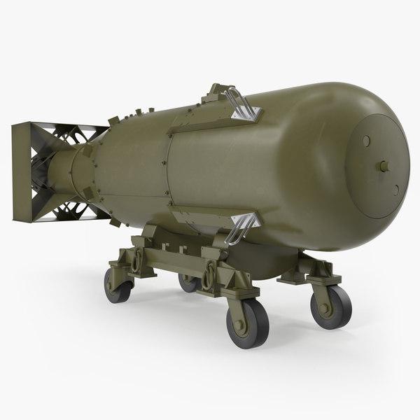 3D nuclear little boy bomb model