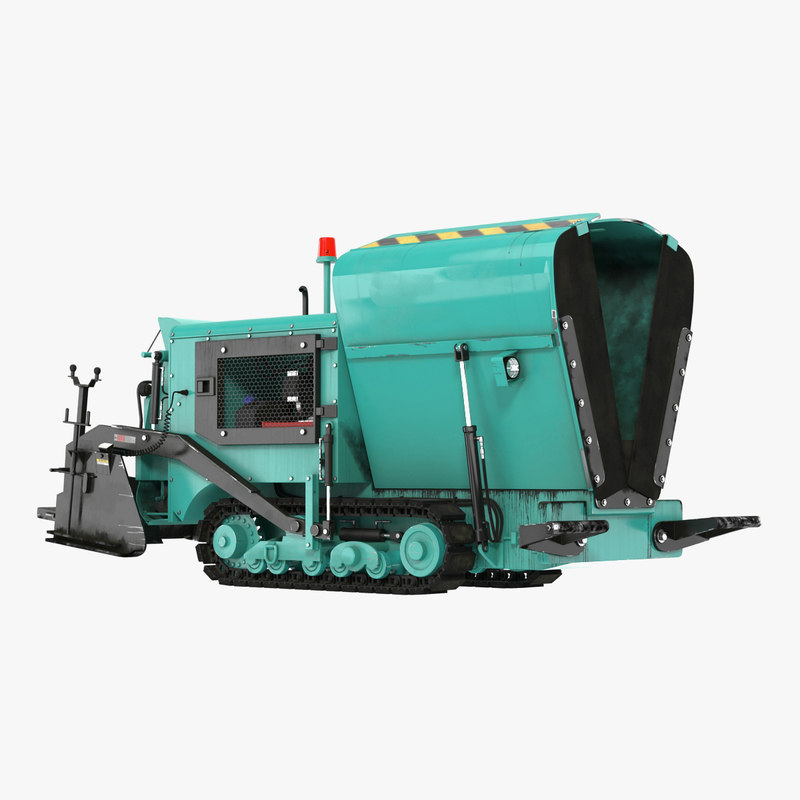 paving machine folded 3D model