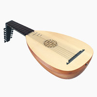 3D string instrument lute model