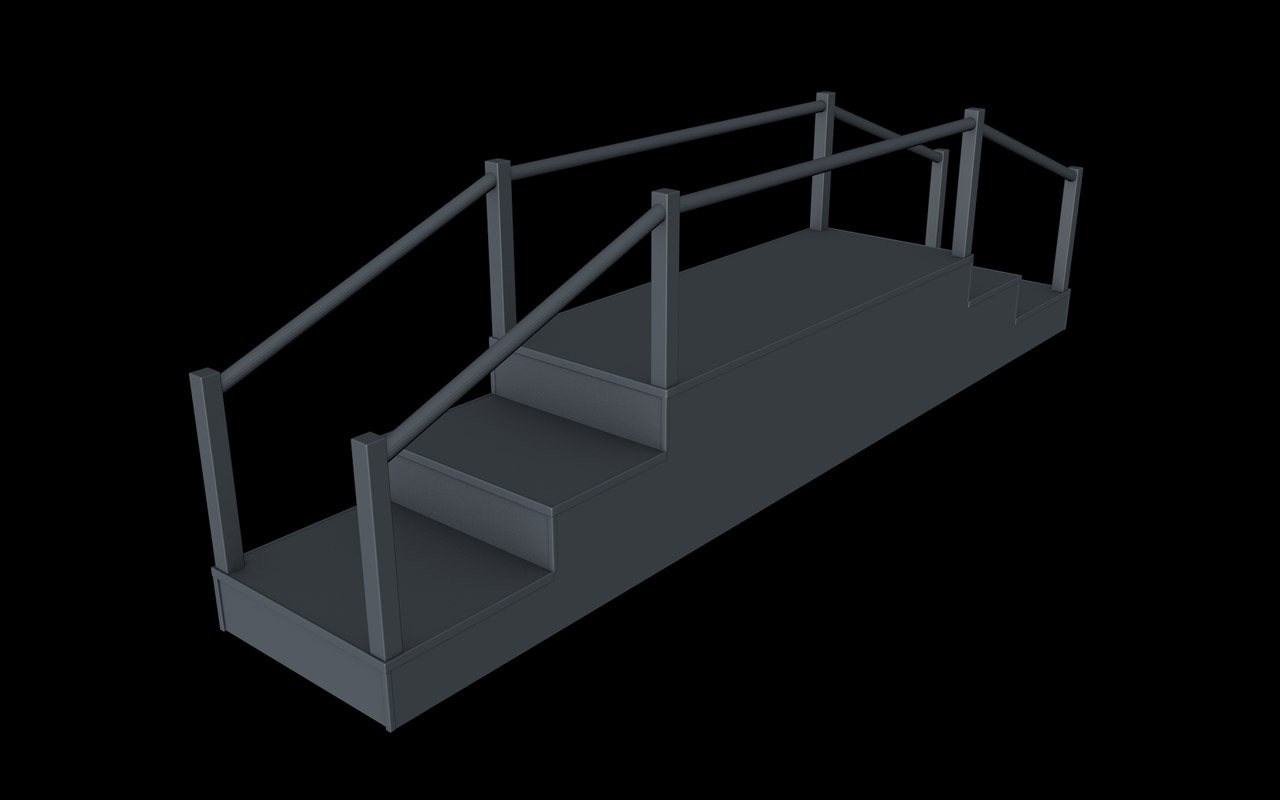 stairs montessori 3D model