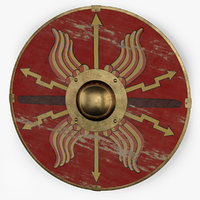 parma shield romans 3D