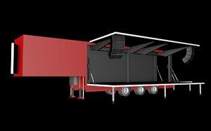stage trailer 3D model