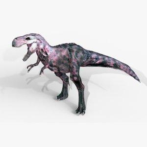 3D raptor t-rex dinosaur