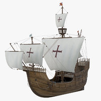 3D model santa maria ship