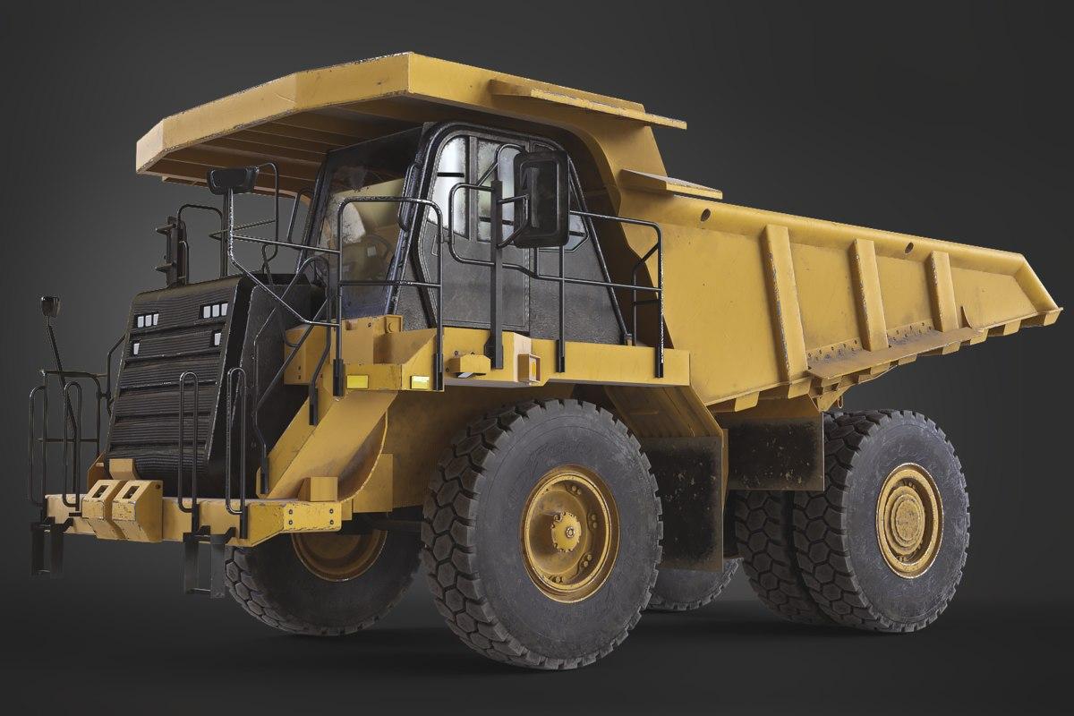 off-highway dump truck generic 3D model