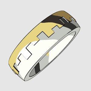 printable unisex ring 3D model