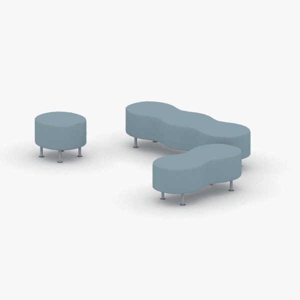 - seats modern office 3D