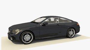 2017-mercedes benz e-class coupe 3D