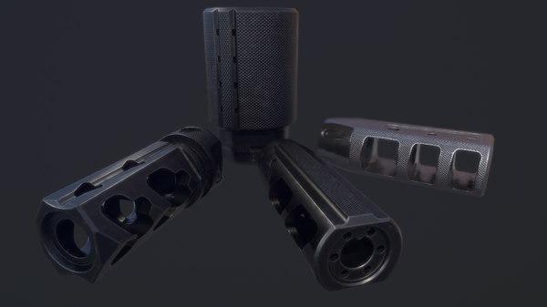 muzzle pack fortis brakes 3D model