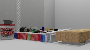 interior frame construction set 3D model