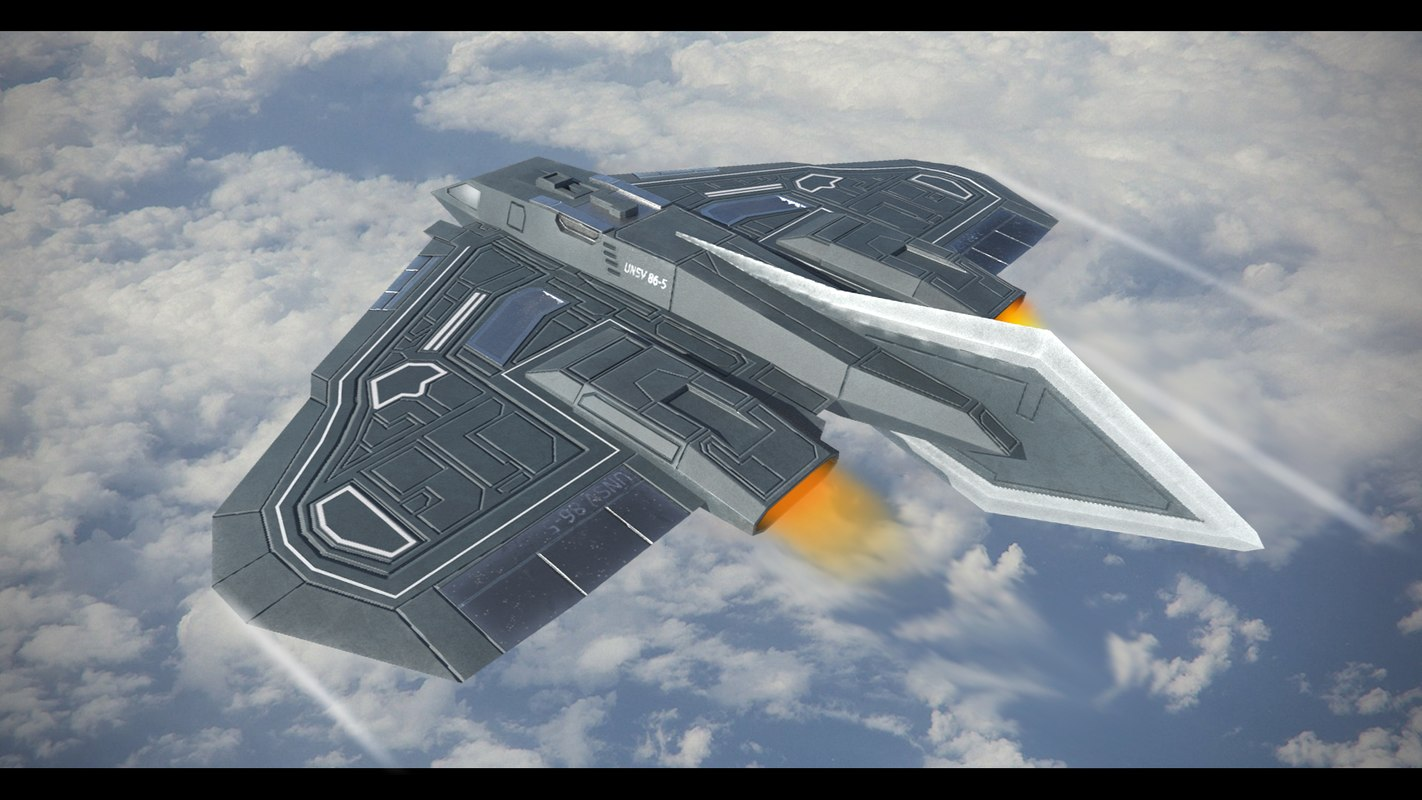 sci-fi hypersonic fighter model