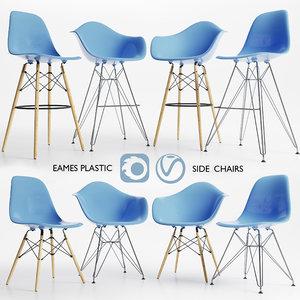 plastic chair eames 3D model