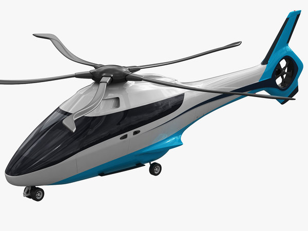3D model fictional helicopter