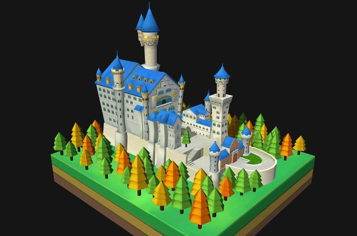 3D neuschwanstein castle architecture world