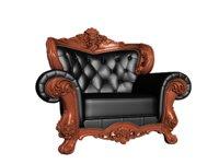 European leather single sofa