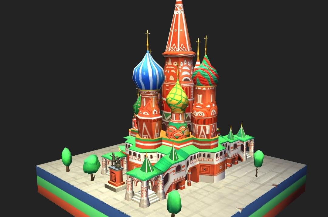 basils cathedral moscow kremlin 3D model