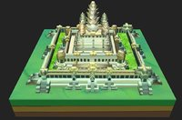 3D model angkor wat