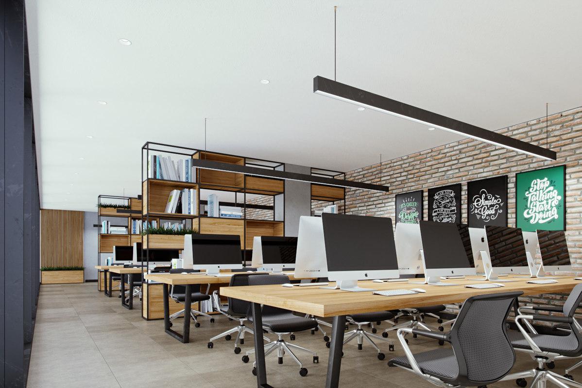 3D office loft model