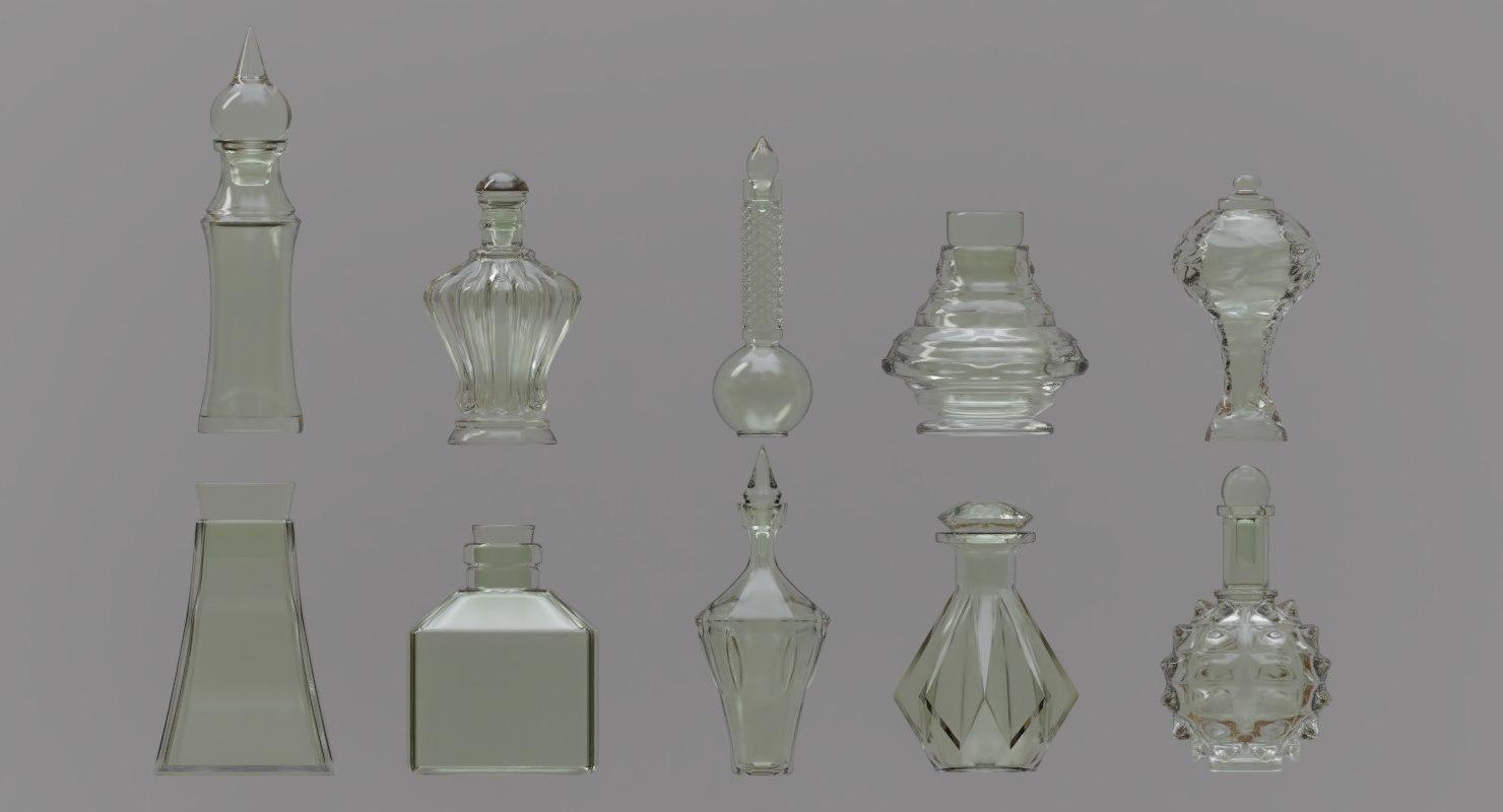 potion bottles 3D model