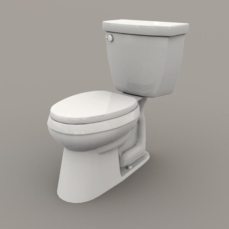 3D model western toilet