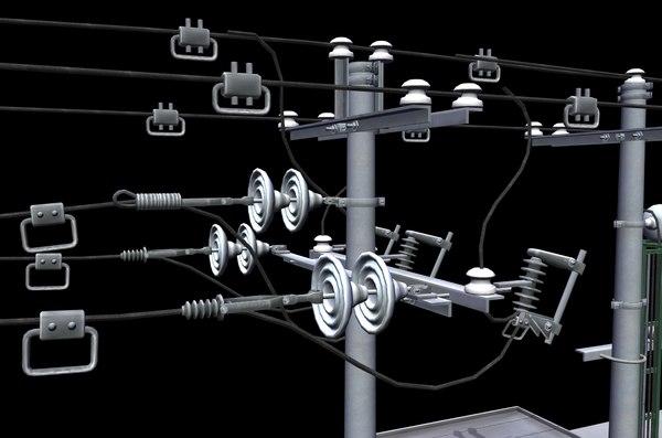 electrical substation 3D model