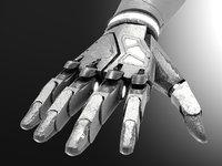 robot hand dirt 3D