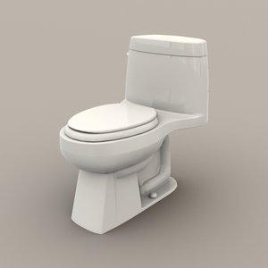 western toilet 3D model