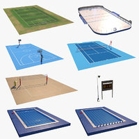 3D model sports fields collections