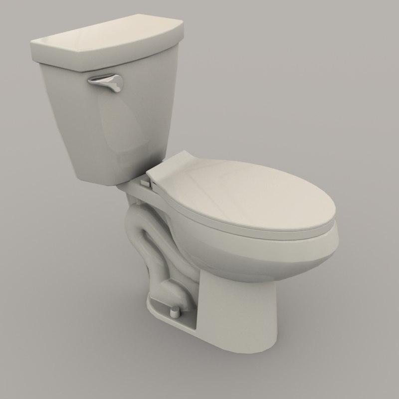 3D western toilet model