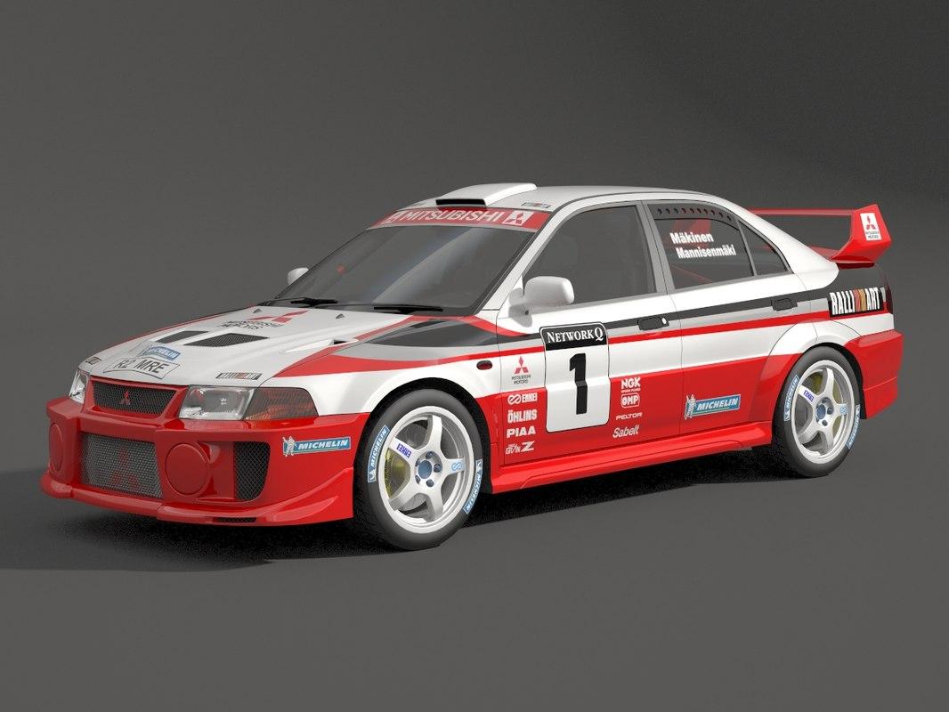 Mitsubishi Evolution Rally 3d Model Turbosquid 1276719