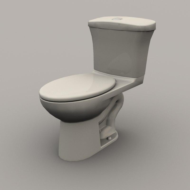 3D toilet model