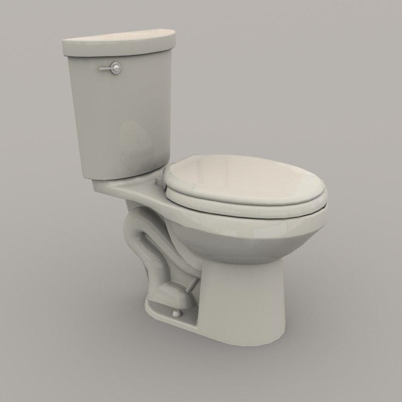 3D toilet polys realistic