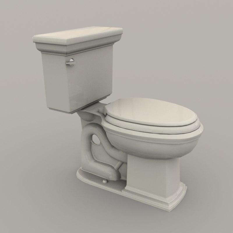 3D toilet polys realistic model