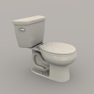 3D model toilet polys realistic